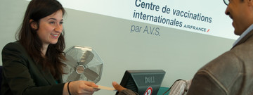 Accueil au Centre de Vaccinations Internationales, par AVS